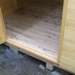 木製物置にひと手間加えて耐久性UP