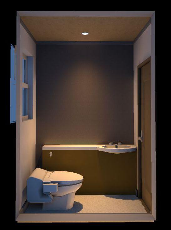 和モダンのトイレ