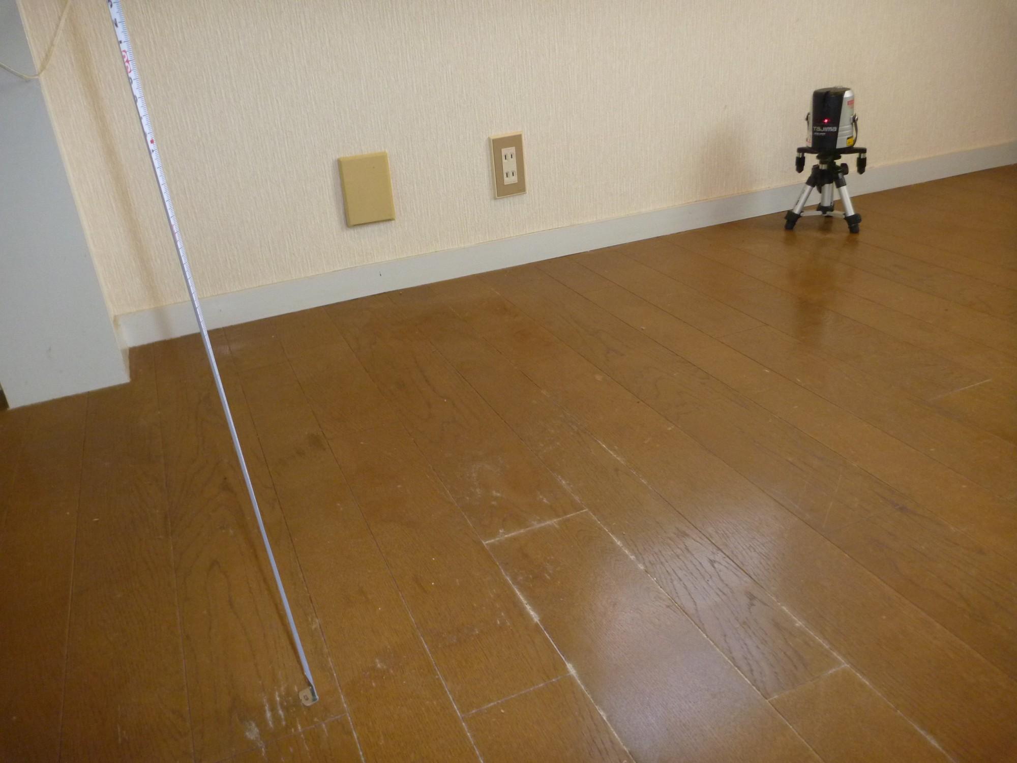 中古住宅 床の傾斜測定