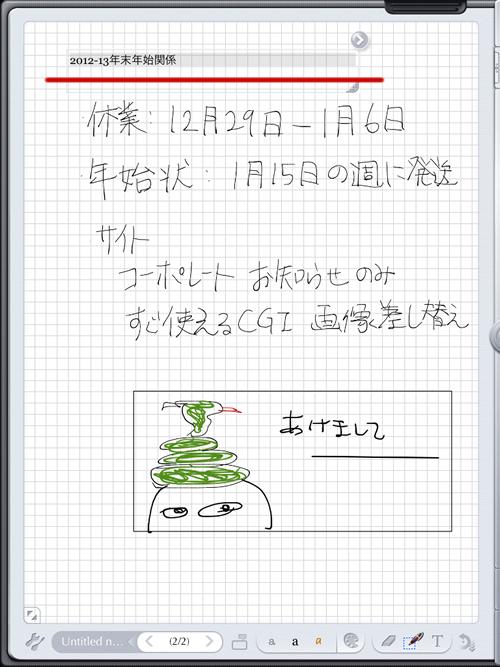 iPad 用おすすめ手書きメモアプリ