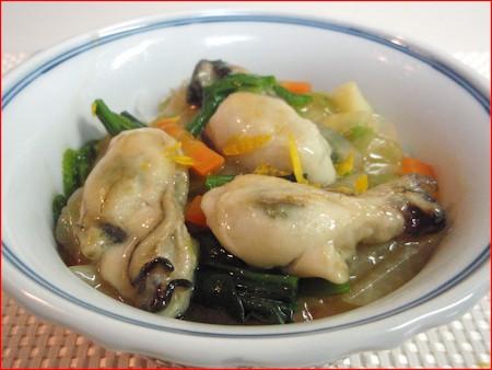 寒い冬のあったか牡蠣のあんかけご飯