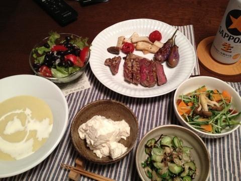 掛川食堂 出張前の肉&野菜