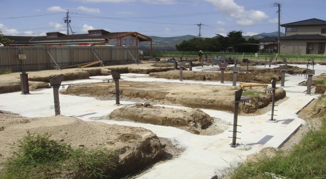 熊本の幼稚園:基礎工事の様子