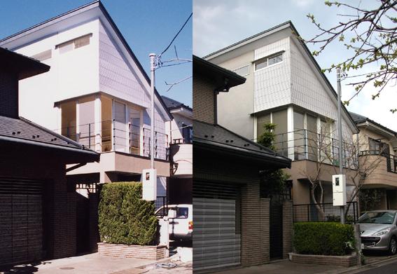 9年前に設計した住宅、8年前に設計したクリニック