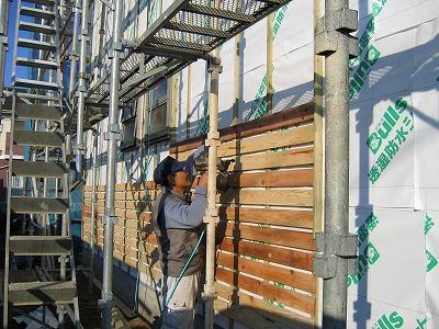塗り壁外壁の通気工法