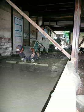 京町屋の基礎施工