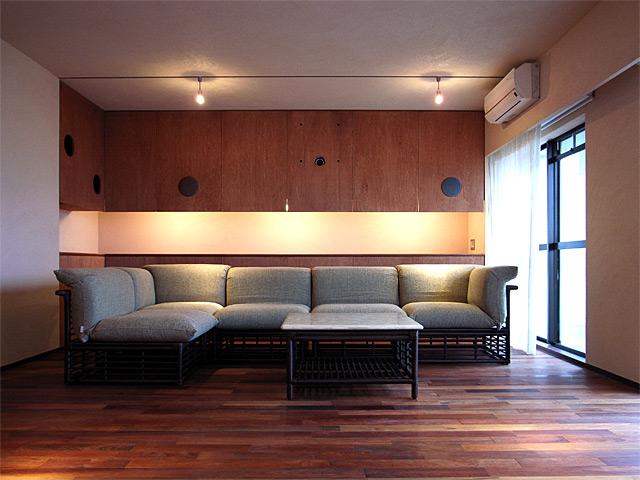 「花梨庵」のリビングルームが掲載