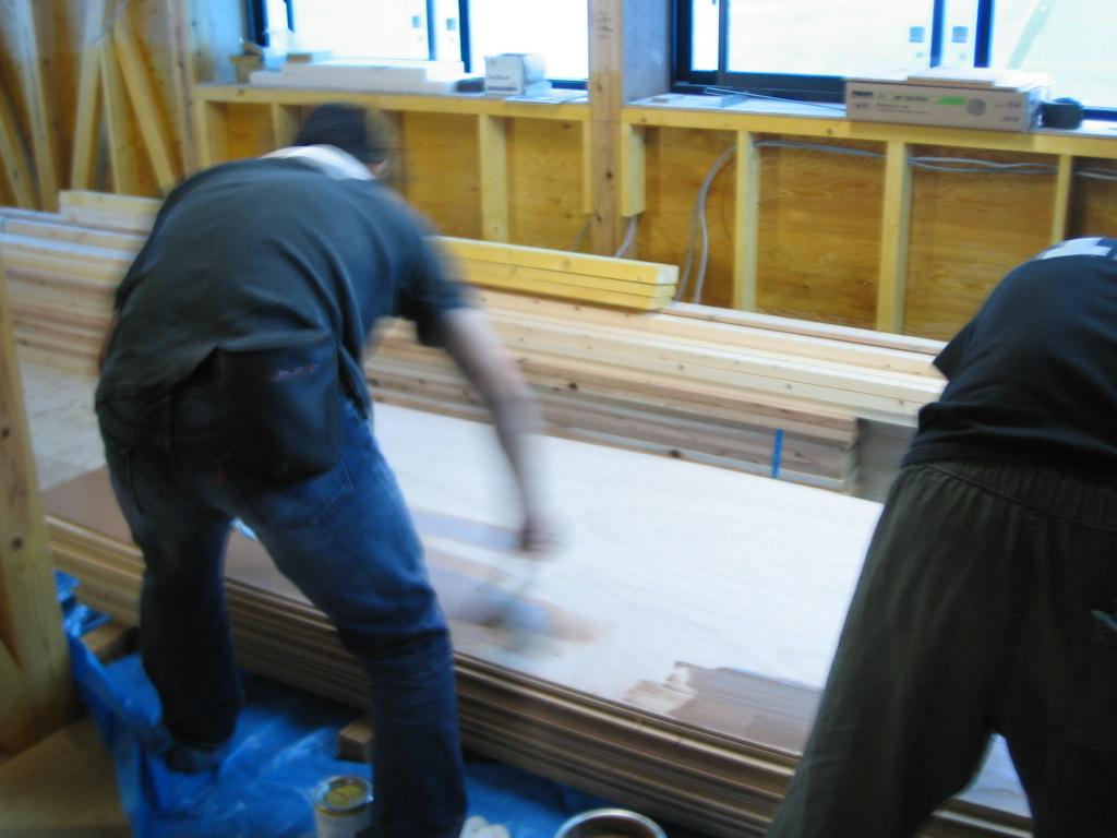 セルフビルドで塗装工事