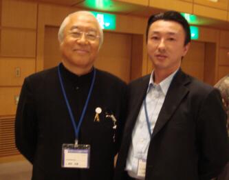 日本抗加齢医学会総会で料理界の巨匠、服部先生と