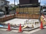 練馬区旭町2丁目/RC半地下車庫耐圧盤コンクリート打込み