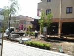 ガーデン工事で生まれ変わる、ビジネスホテル