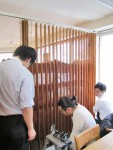 東京ブラインドの木製縦型ブラインド