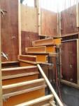 階段の型枠工事