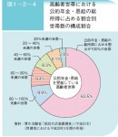 老後 生活設計 高齢者の公的年金の収入割合
