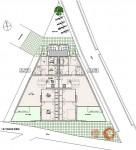 集合住宅計画案・超変形三角地