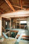 木造住宅のダイナミックなスケルトン工事。