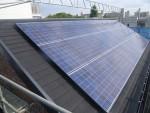 板橋区高島平/3階建、太陽光発電システム5.1kw設置の様子