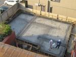 板橋区幸町/ベタ基礎鉄筋配筋検査を受け、無事合格しました。