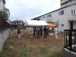 地鎮祭を行いました。中庭を囲む二世帯住宅