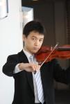優雅にお茶とバイオリンの音色を