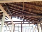 松の丸太梁