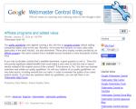 Googleがアフィリエイトサイトへ警告!?