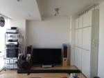 ホームシアター + L字型壁面収納家具