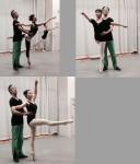 12月10日の2つ目のクラスは男性ダンサーとのアダージオクラスです。