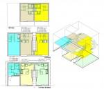 狭小地での集合住宅計画・木造耐火建築物