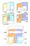 狭小地での集合住宅計画・木造重層長屋