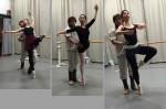 ミストラルバレエスタジオです。先日のアダージオ写真を。