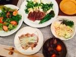 肉と豆腐ステーキ並び