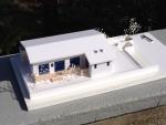 我孫子市の平屋の「床下暖房の家」の模型ができました
