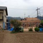 青梅市の中庭のある平屋の家が上棟しました