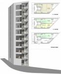 22坪の敷地に実現できる高層型集合住宅計画