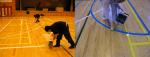 スポーツコートラインを引いたフロアの使用方法やメンテナンス