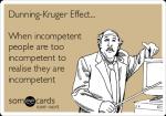 The Dunning-Kruger effect [自己の愚かさも認識出来ないほどの愚かさ]