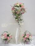 ブライダルは優しいピンクのバラで・作品7