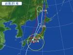 台風による気圧と湿度変化