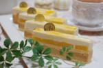 応用クラス 9月お菓子教室メニュー キャラメル&ココナツムースと南国フルーツのレクタンブルケーキ
