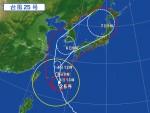 台風進路予測の確率