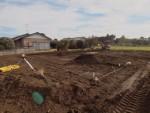 基礎工事が始まっております。