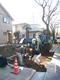板橋区高島平4丁目/道路L字溝切り下げ工事中です!