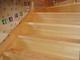 板橋区大山西町/節アリ北王松 自然塗料仕上げの階段