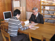 紙の壁紙・沖縄/月桃紙の会社の方がみえました