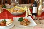 ワインとあわせるメイン料理 おもてなし料理コースの様子