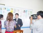 ベトナムテレビ(VTVC)局から取材