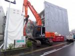 土地活用例2) 新しい建物完成後、移転入居、従前建物を解体