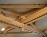天井の木組み-地元材で建てた普通の数奇屋 6