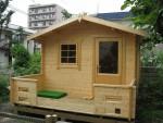 庭にミニログを建てませんか。